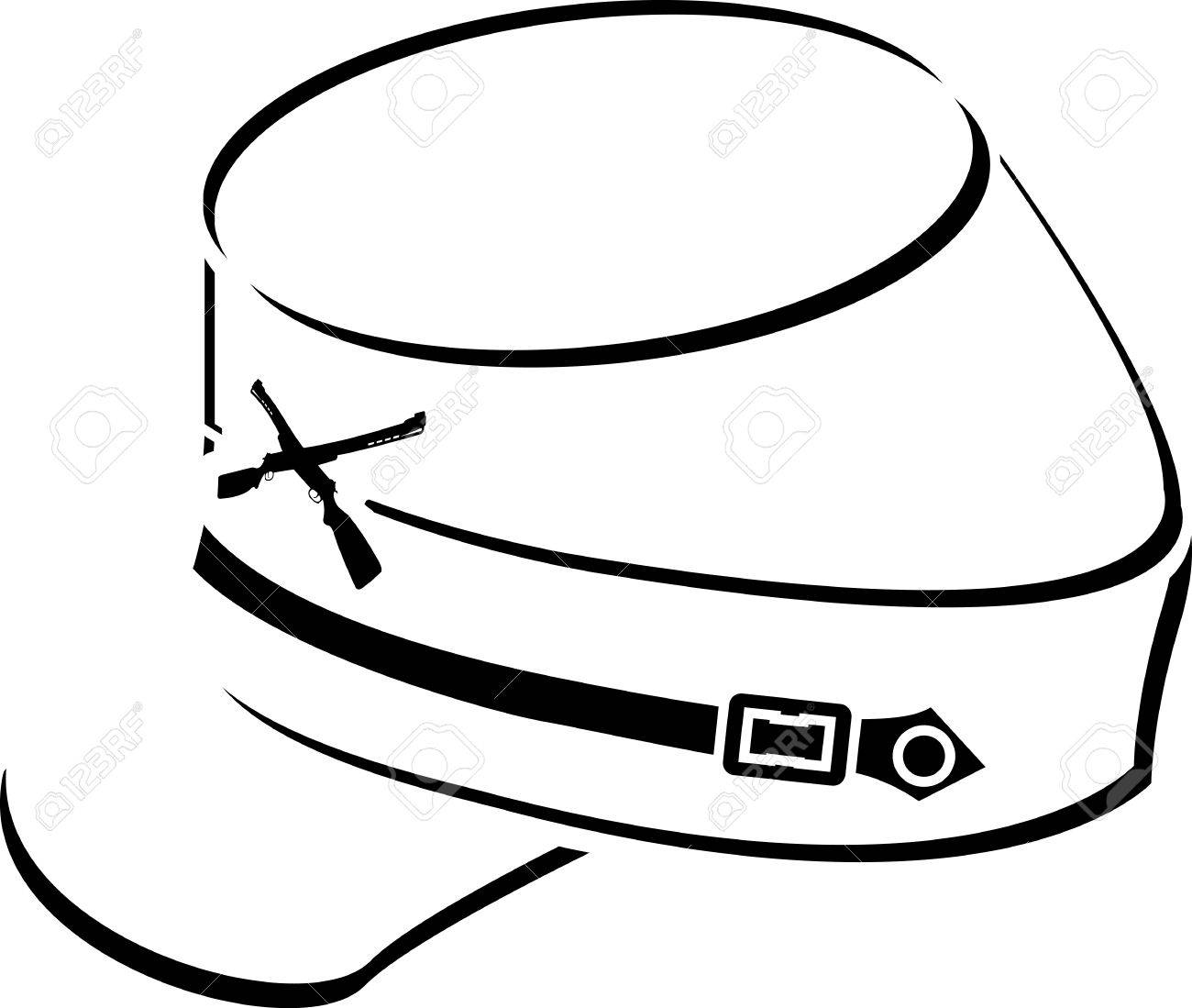 american civil war kepi sketch illustration royalty free cliparts rh 123rf com free civil war clipart images