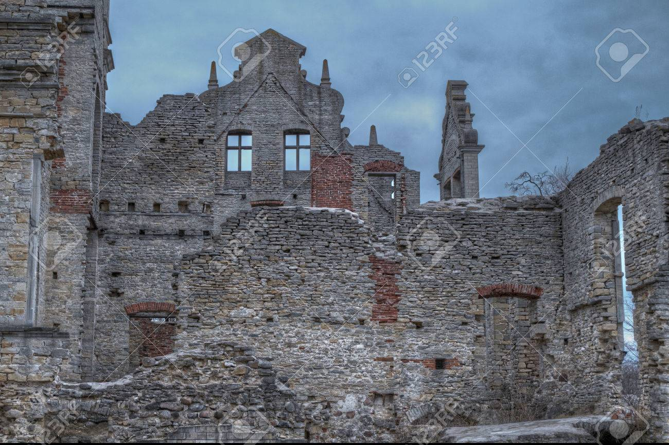Castle Ruins In Haapsalu City Estonia Stock Photo Picture And