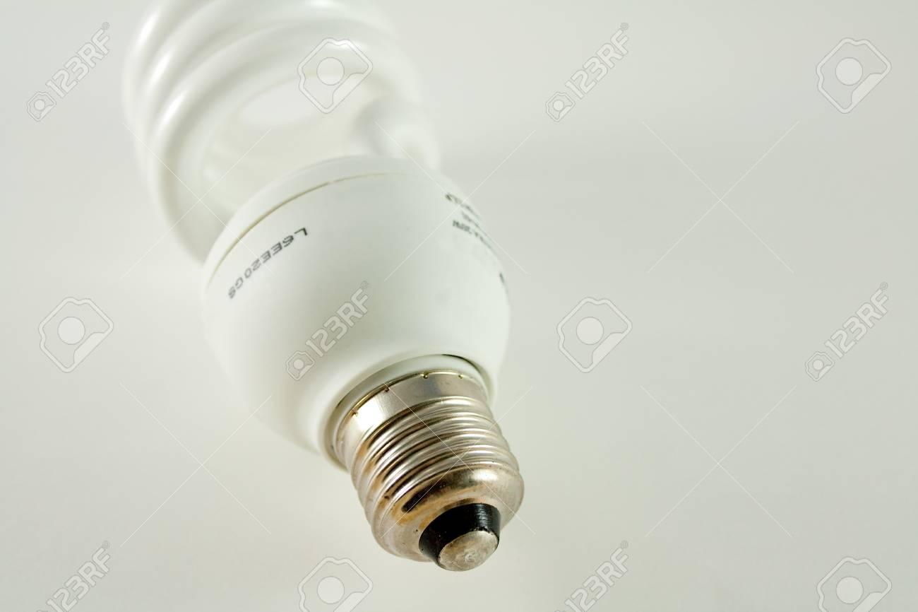 fluorescent light bulb isolated on white background Stock Photo - 4131333