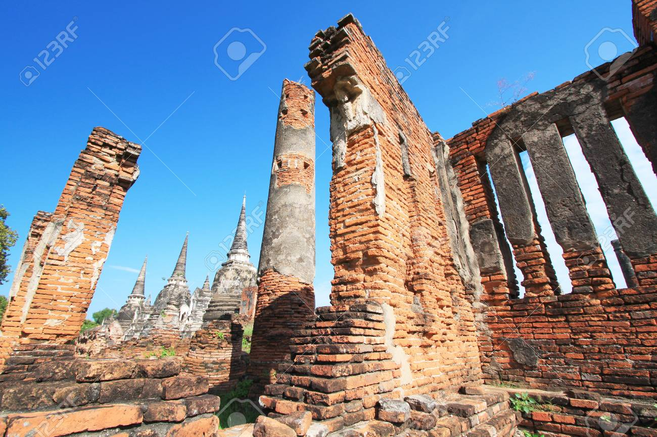 Wat-Phrasisanphet Ayutthaya in Thailand Stock Photo - 14215356