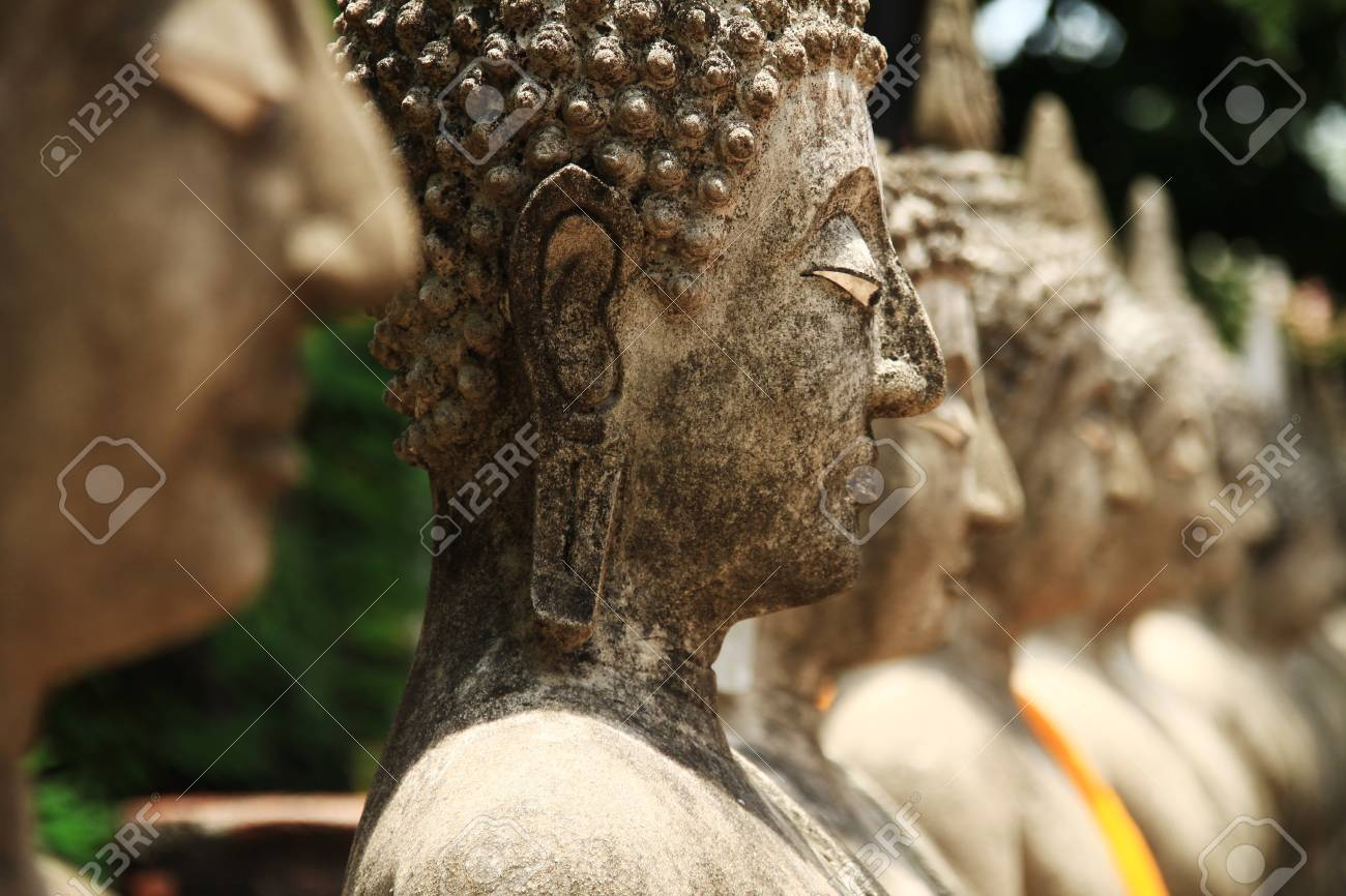 Stone statue of a Buddha in Thailand Stock Photo - 14215337