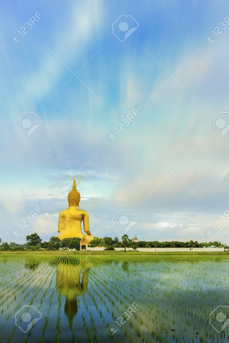 Big Buddha at Angthong in Thailand Stock Photo - 22638824