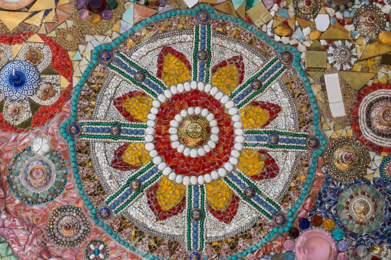Bunte Fliesen Mosaik Fur Den Hintergrund Lizenzfreie Fotos Bilder