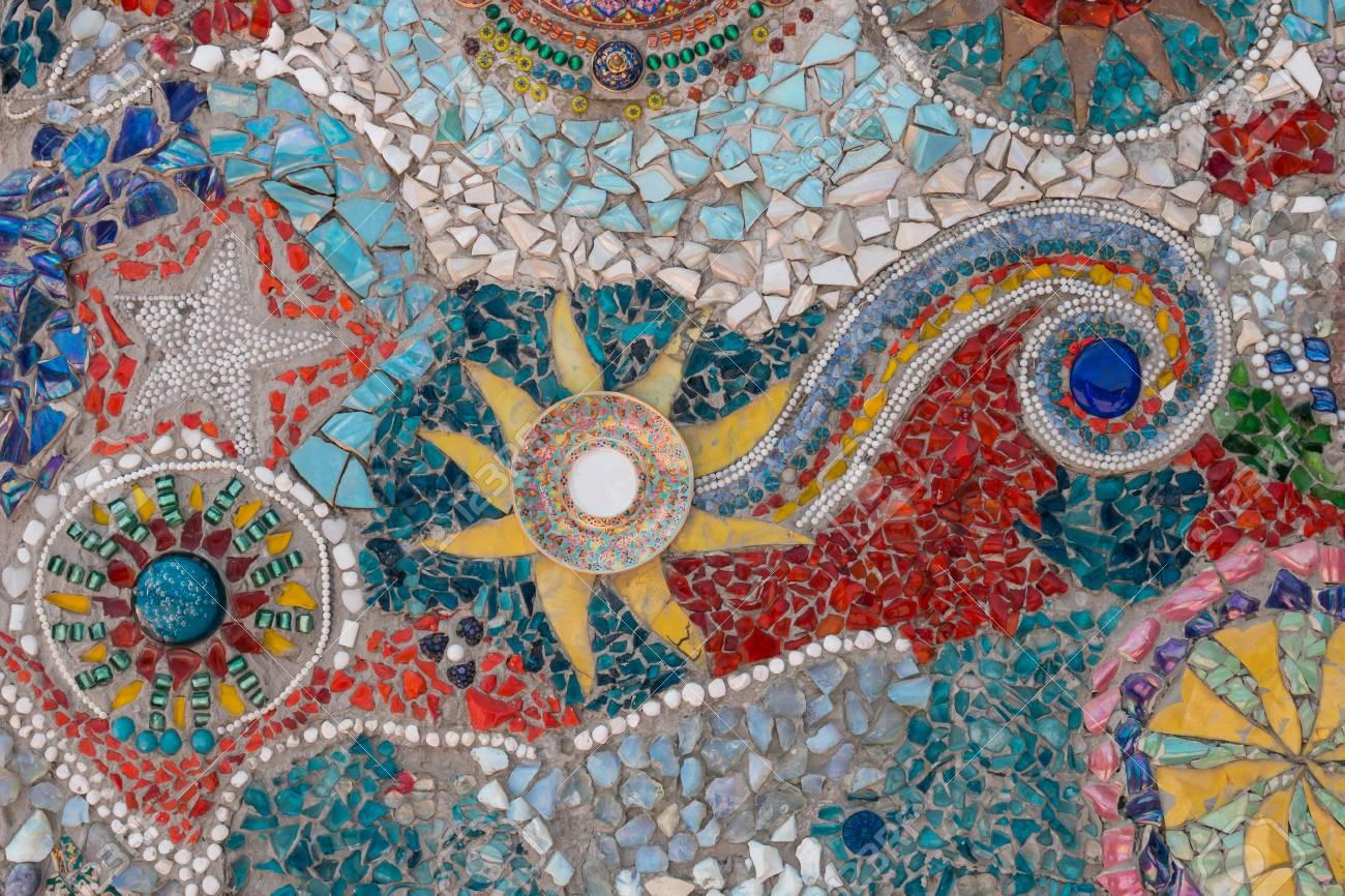 Bunten Fliesen Mosaik Fur Hintergrund Lizenzfreie Fotos Bilder Und