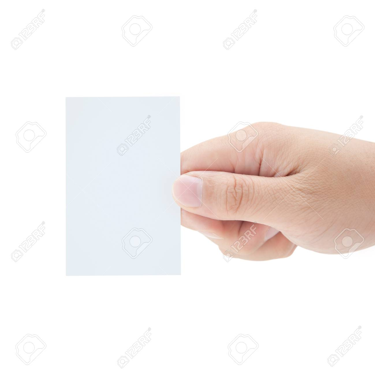 Blank Business Card In Hand Stock Photo - 7775320