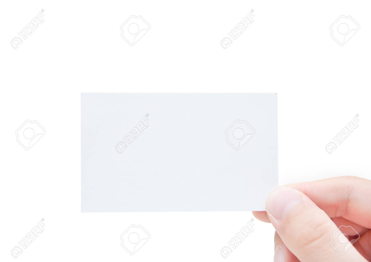 Blank Business Card In Hand Stock Photo - 7775316