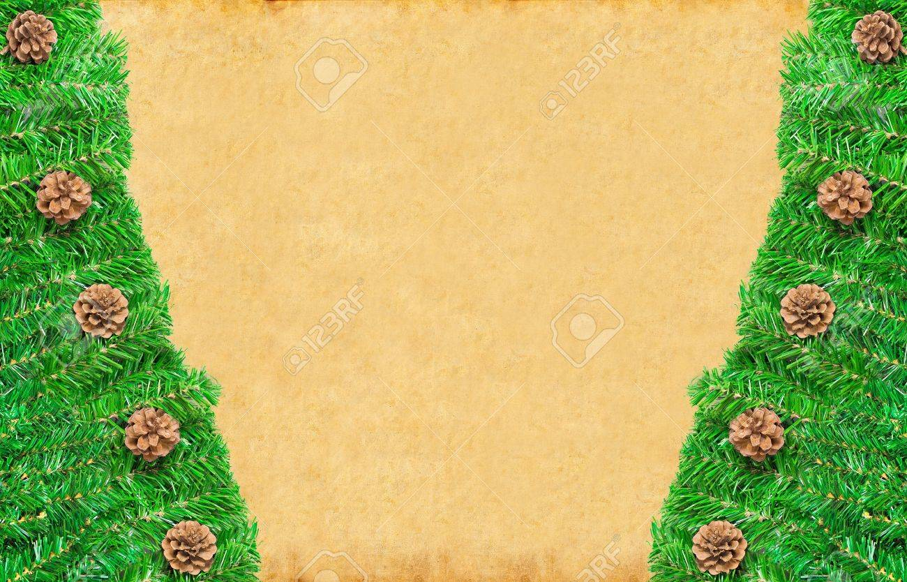 Christmas green framework with Pine needles and cones isolated Stock Photo - 8348809