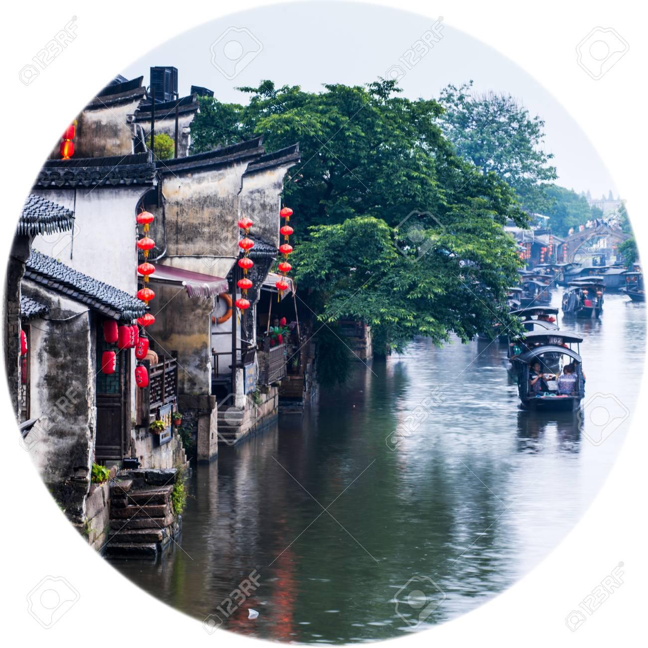 Ancient town, Xitang, Zhejiang Province, China - 61310232