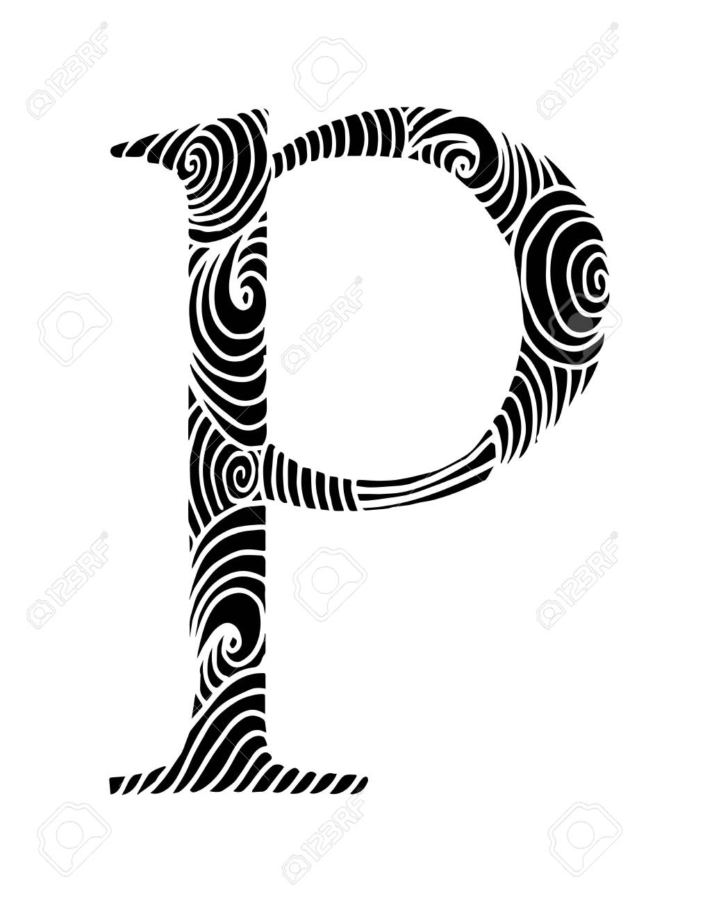 zentangle stylized alphabet letter p in doodle style hand drawn rh 123rf com