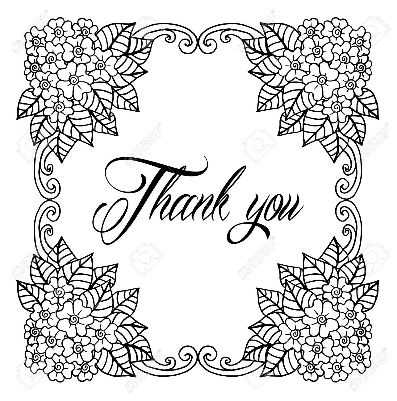 picture relating to Printable Wedding Card named Thank on your own card, owing. Vector isolated hand drawn lettering..