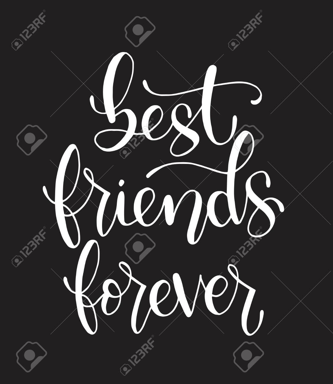 best friends forever hand lettering motivational quotes royalty