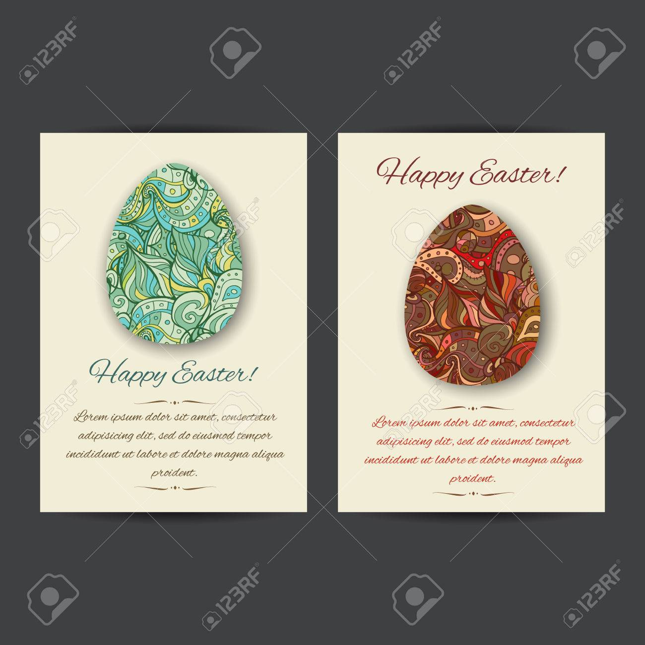 Happy Easter Holiday Card Templates Set Of Two Card Template