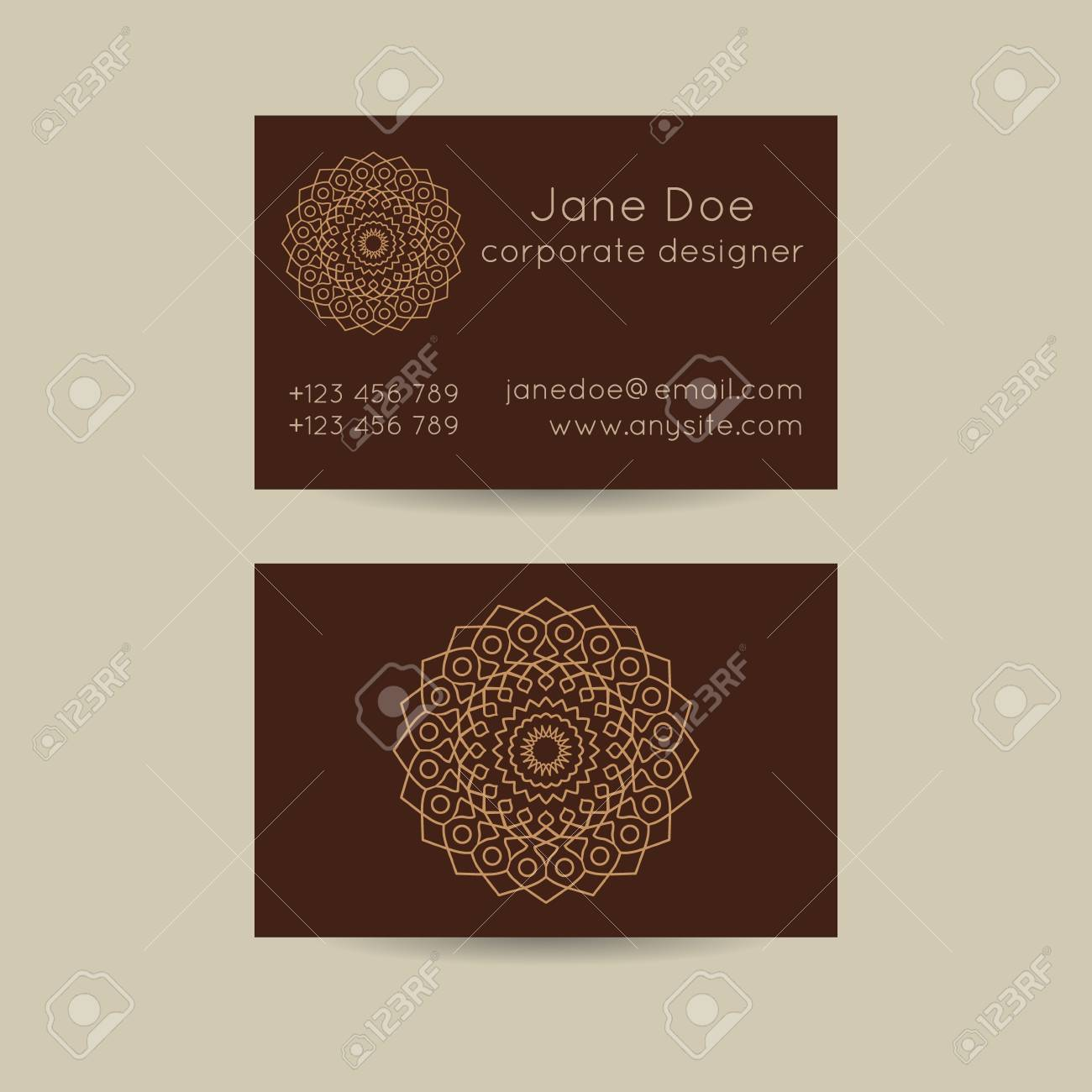 Set of vintage business card template designs mandala design set of vintage business card template designs mandala design oriental india style cards reheart Choice Image