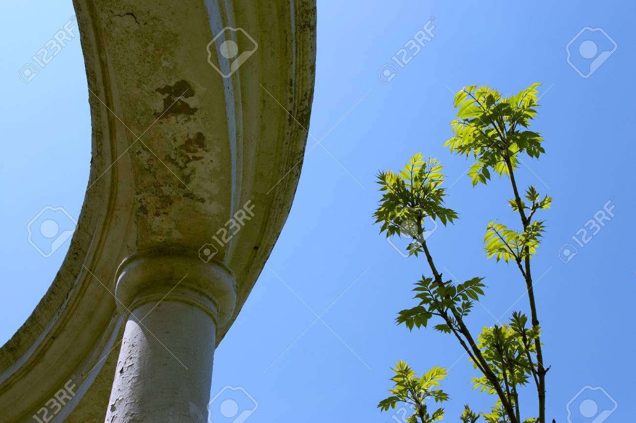 Ancient city structure with columns Stock Photo - 450034