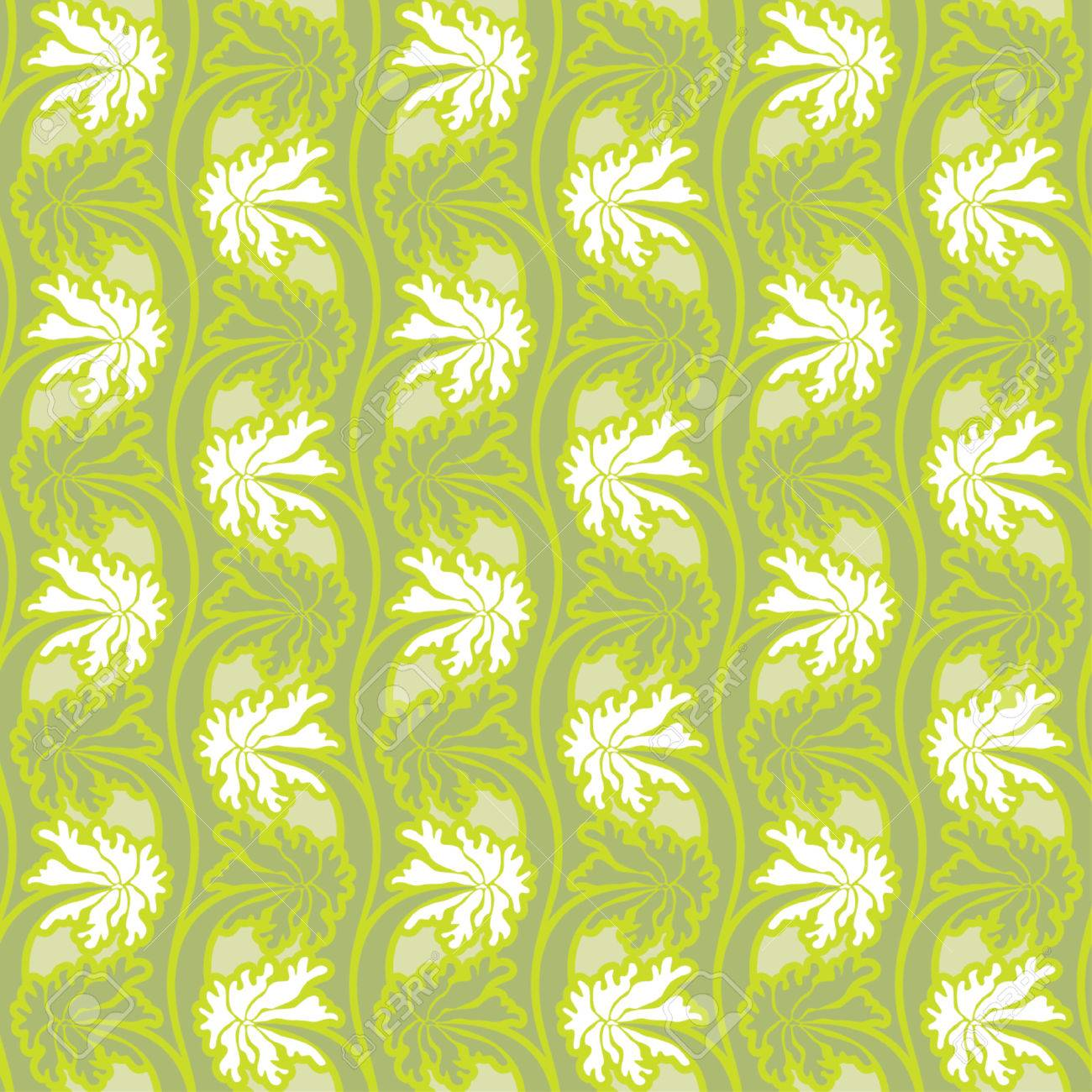 Seamless background from a flower ornament, Fashionable modern wallpaper Stock Vector - 866263