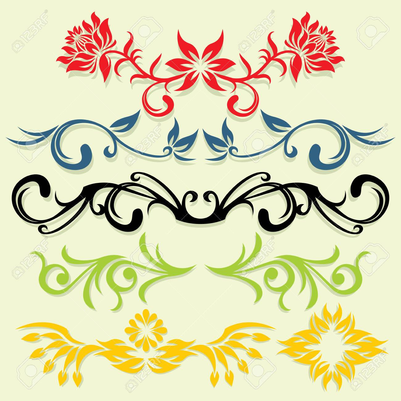 vector ornament In flower style Stock Vector - 1989512
