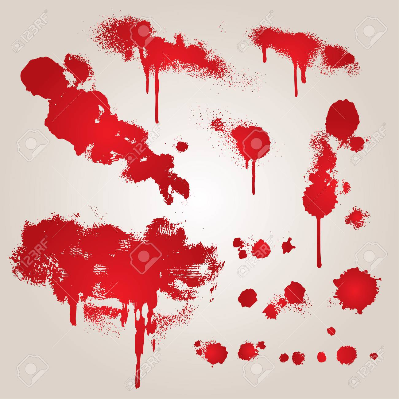 set from several different bloody grunge objects Stock Vector - 2406983