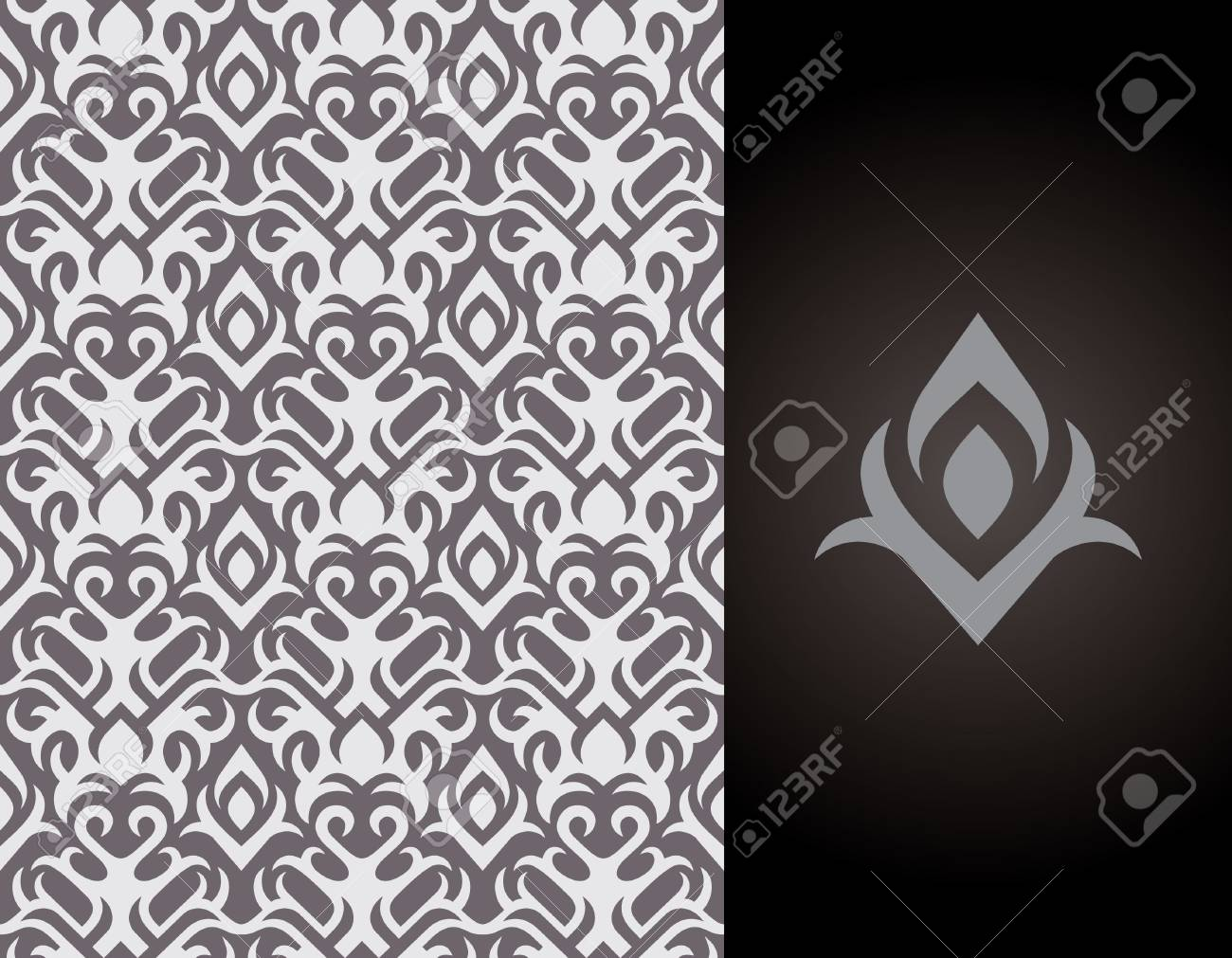 Seamless background from a floral ornament, Fashionable modern wallpaper or Stock Vector - 2903685