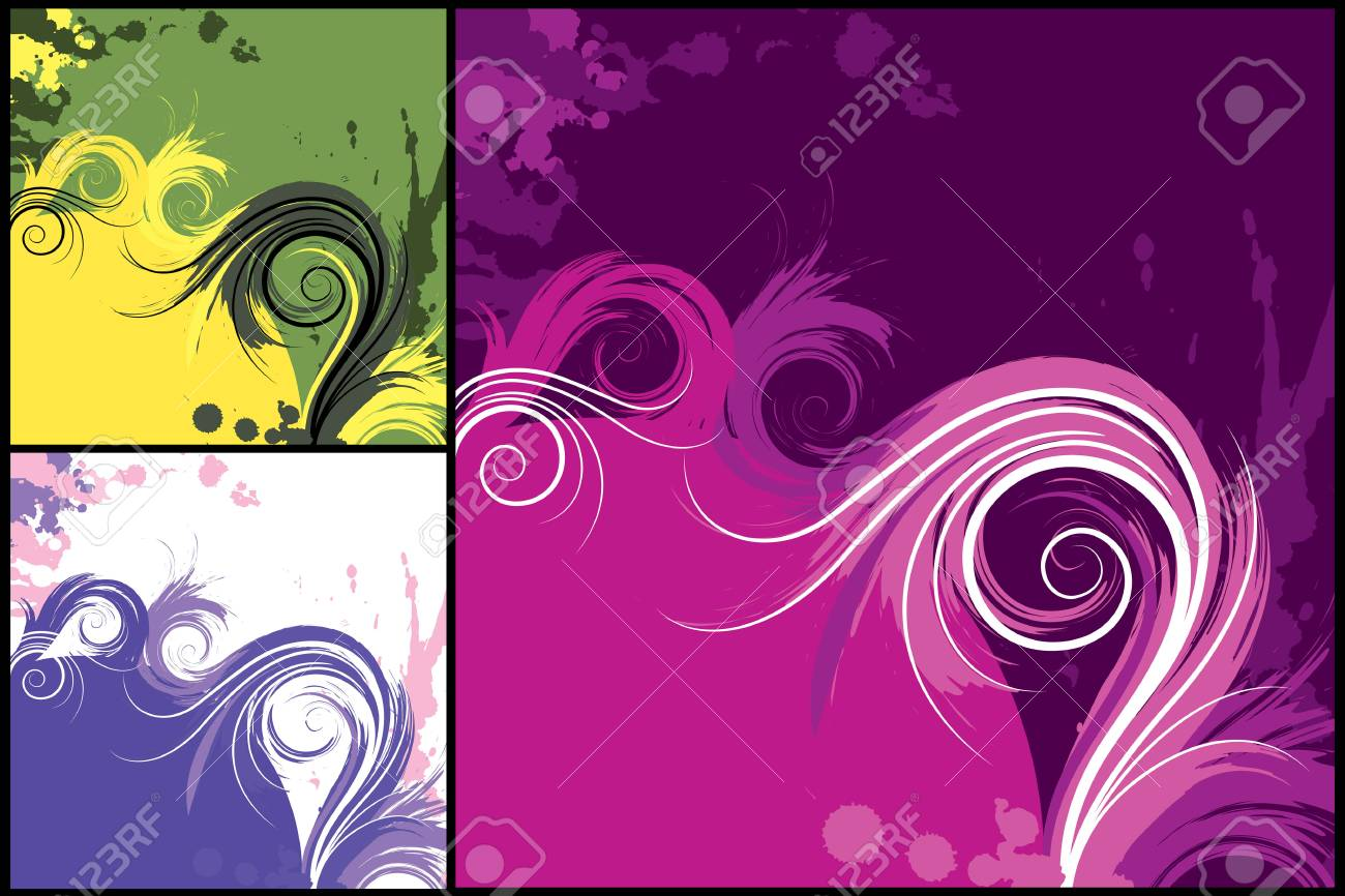 set from several grunge objects Stock Vector - 3216863