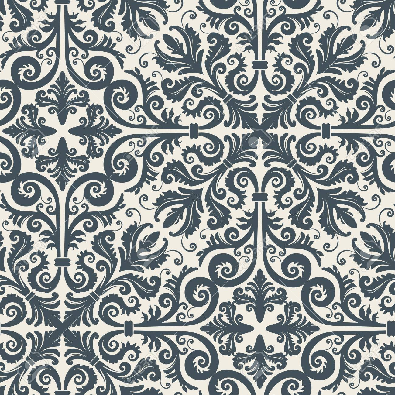 Seamless background from a floral ornament, Fashionable modern wallpaper or textile Stock Vector - 4538896