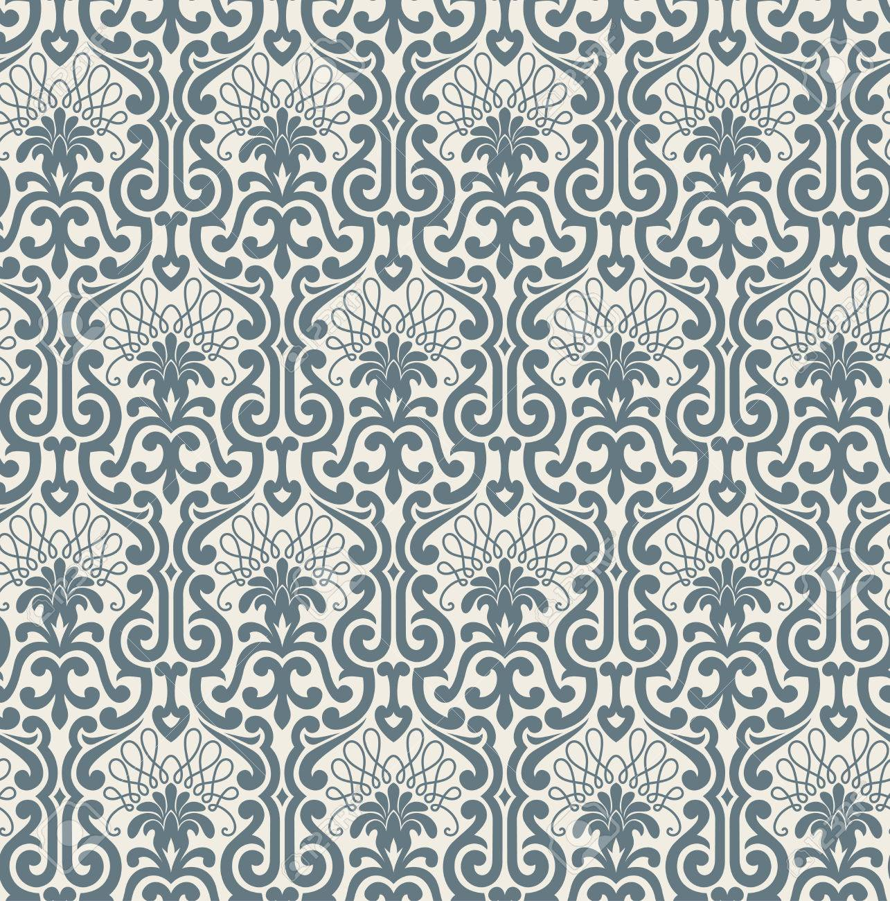 Seamless background from a floral ornament, Fashionable modern wallpaper or textile Stock Vector - 4578254