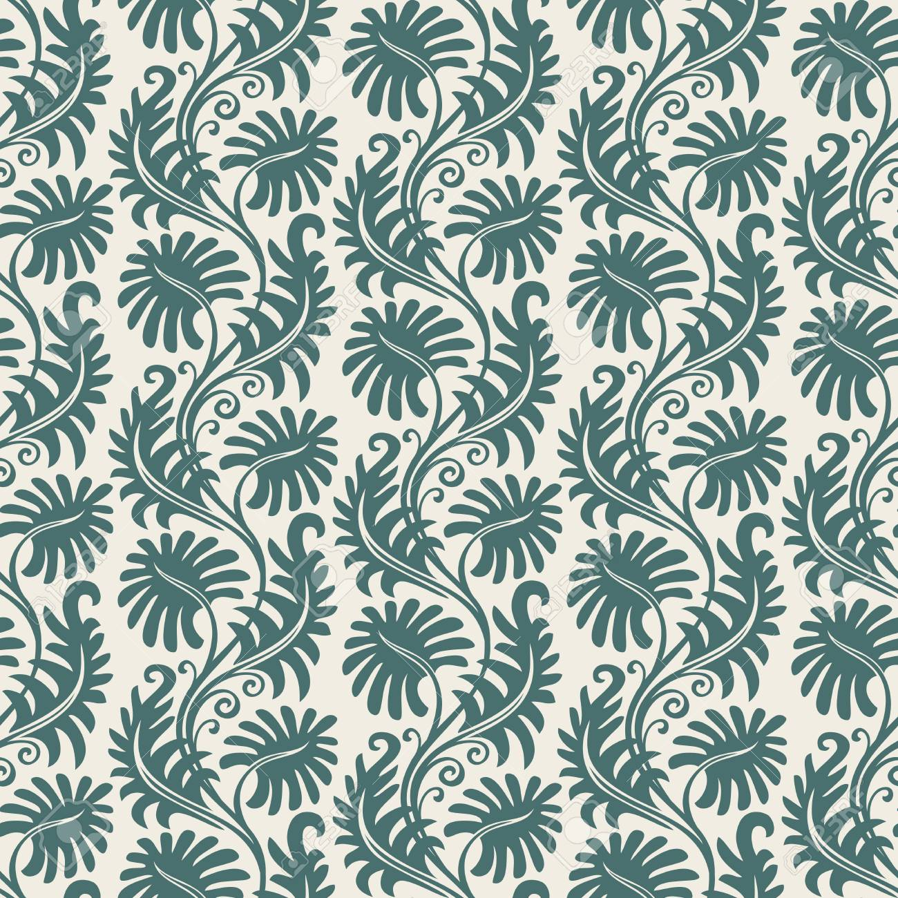 Seamless background from a floral ornament, Fashionable modern wallpaper or textile Stock Vector - 4951849