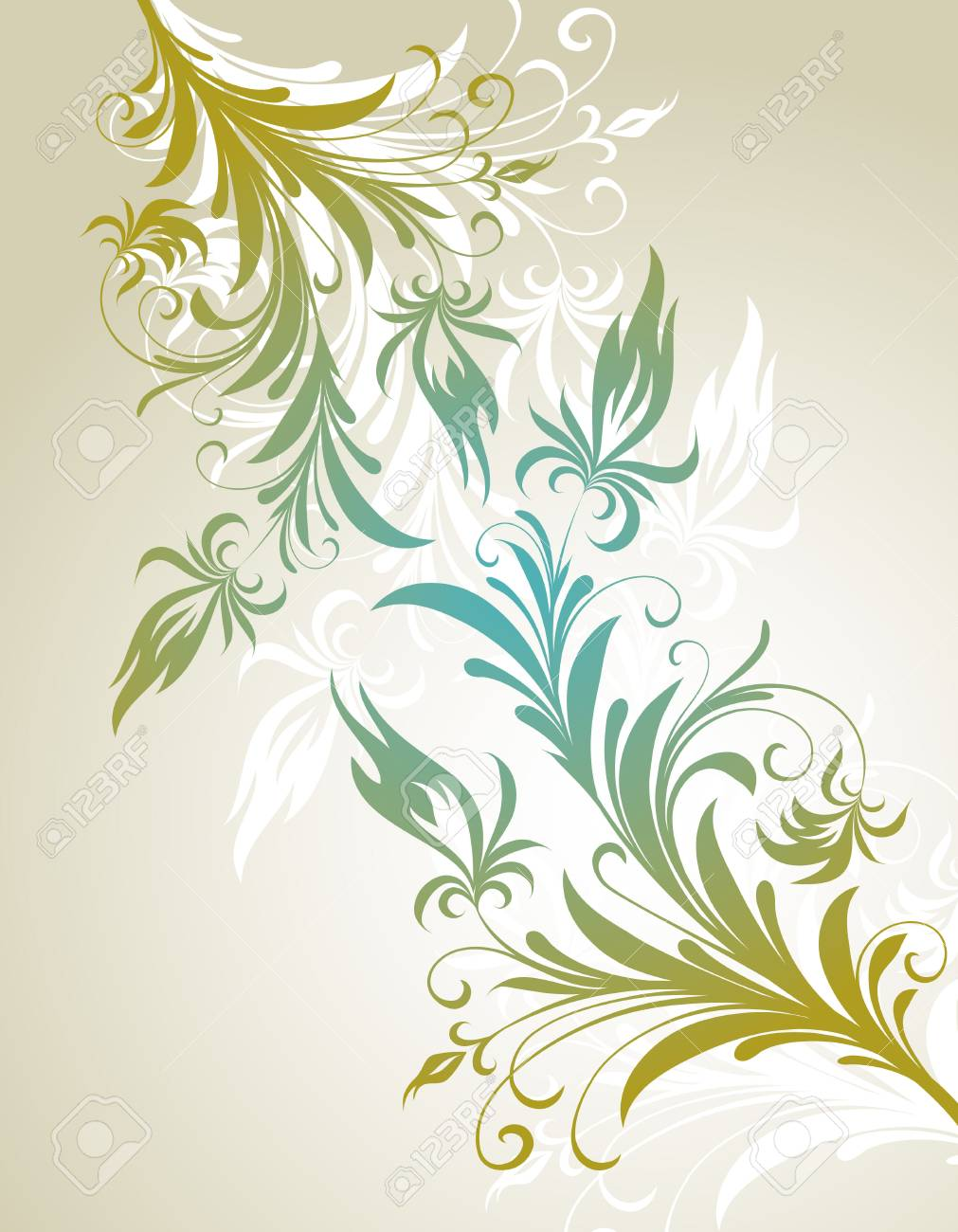 vector ornament In flower style Stock Vector - 4965813