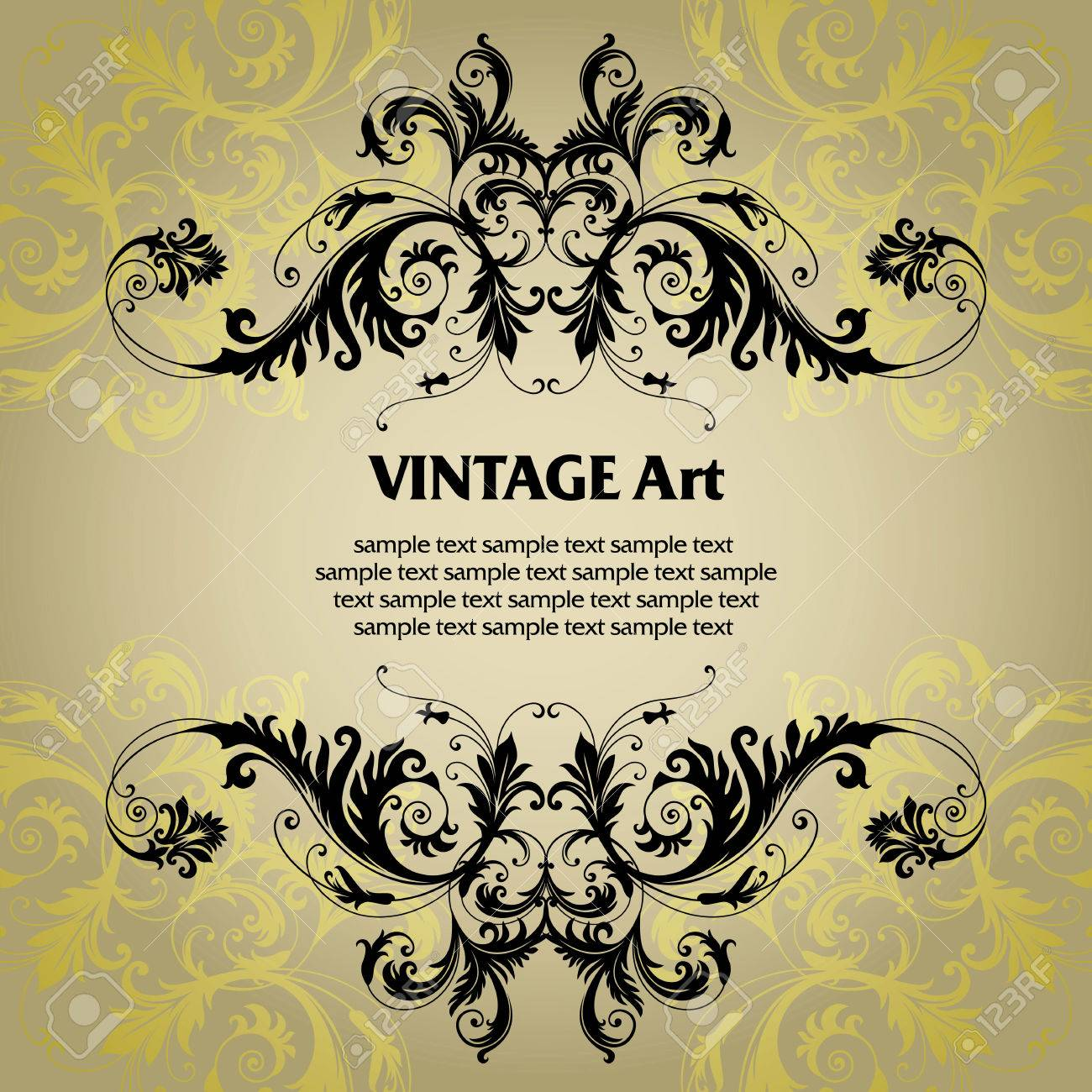 vector vintage template frame In flower style Stock Vector - 4985559