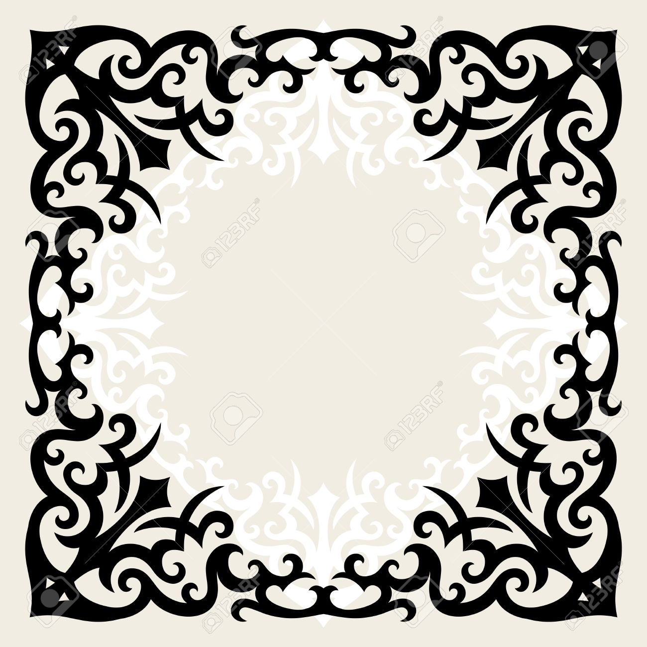 Vintage Template Frame In Gothic Style Royalty Free Cliparts ...