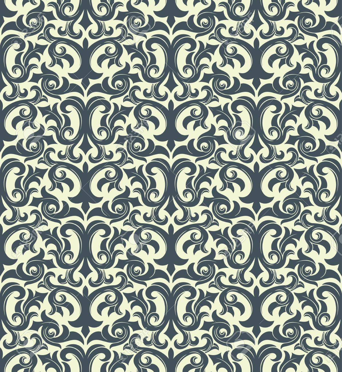 Seamless background from a floral ornament, Fashionable modern wallpaper or textile Stock Vector - 6551190
