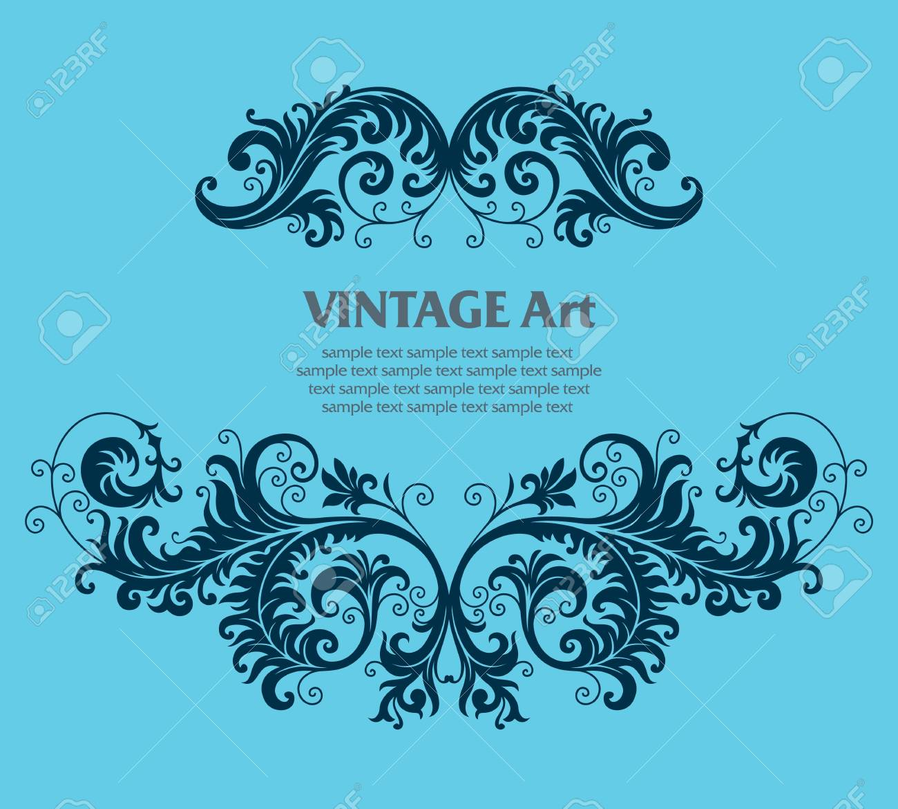 ornament In flower style Stock Vector - 6584720