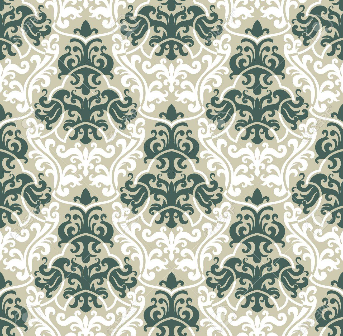 Seamless background from a floral ornament, Fashionable modern wallpaper or textile Stock Vector - 6584691