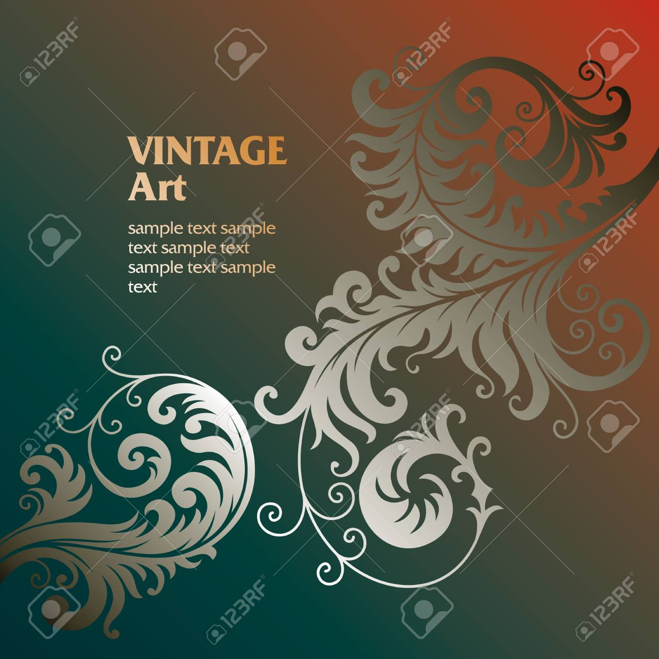 ornament In flower style Stock Vector - 6656430
