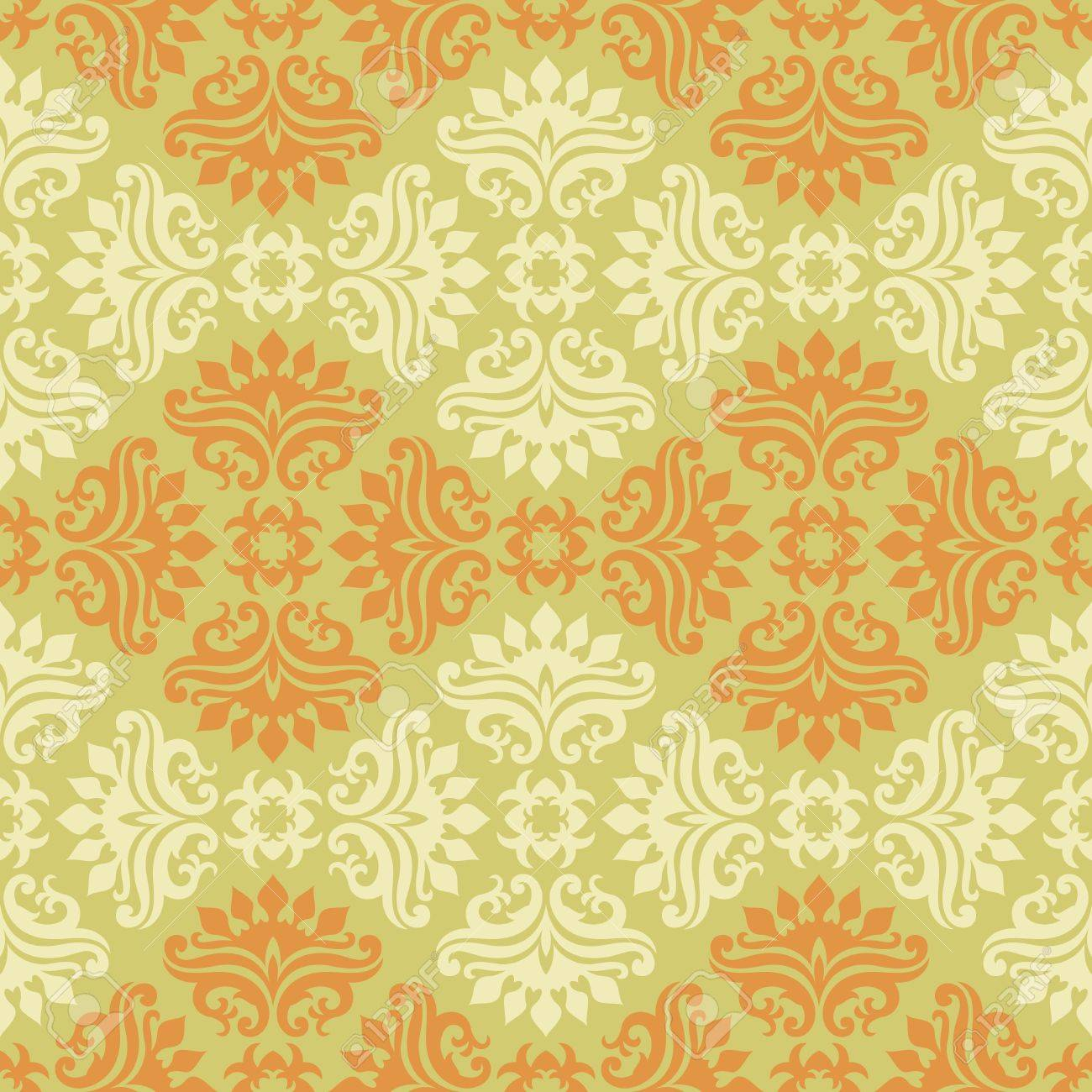 Seamless background from a floral ornament, Fashionable modern wallpaper or textile Stock Vector - 7011447