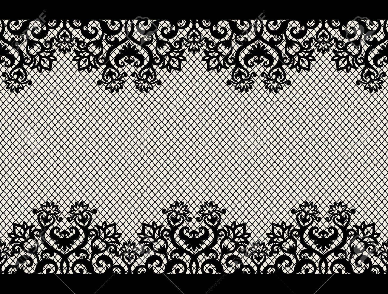 horizontal seamless background from a floral ornament - 7032032