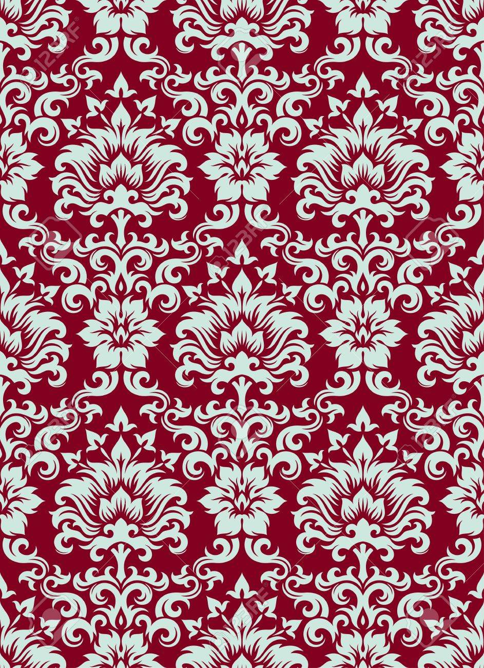 Seamless background from a floral ornament, Fashionable modern wallpaper or textile Stock Vector - 7031983