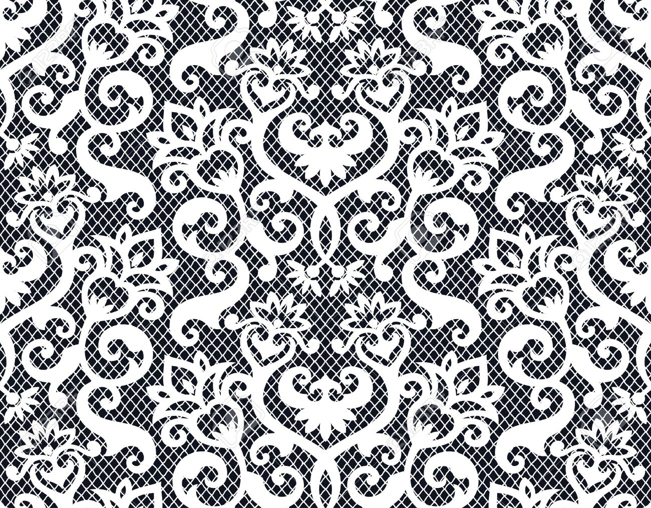 Seamless background from a floral ornament, Fashionable modern wallpaper or textile - 7085364