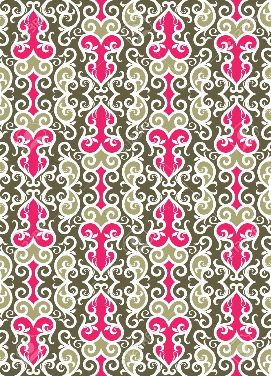 Seamless background from a floral ornament, Fashionable modern wallpaper or textile Stock Vector - 7085358