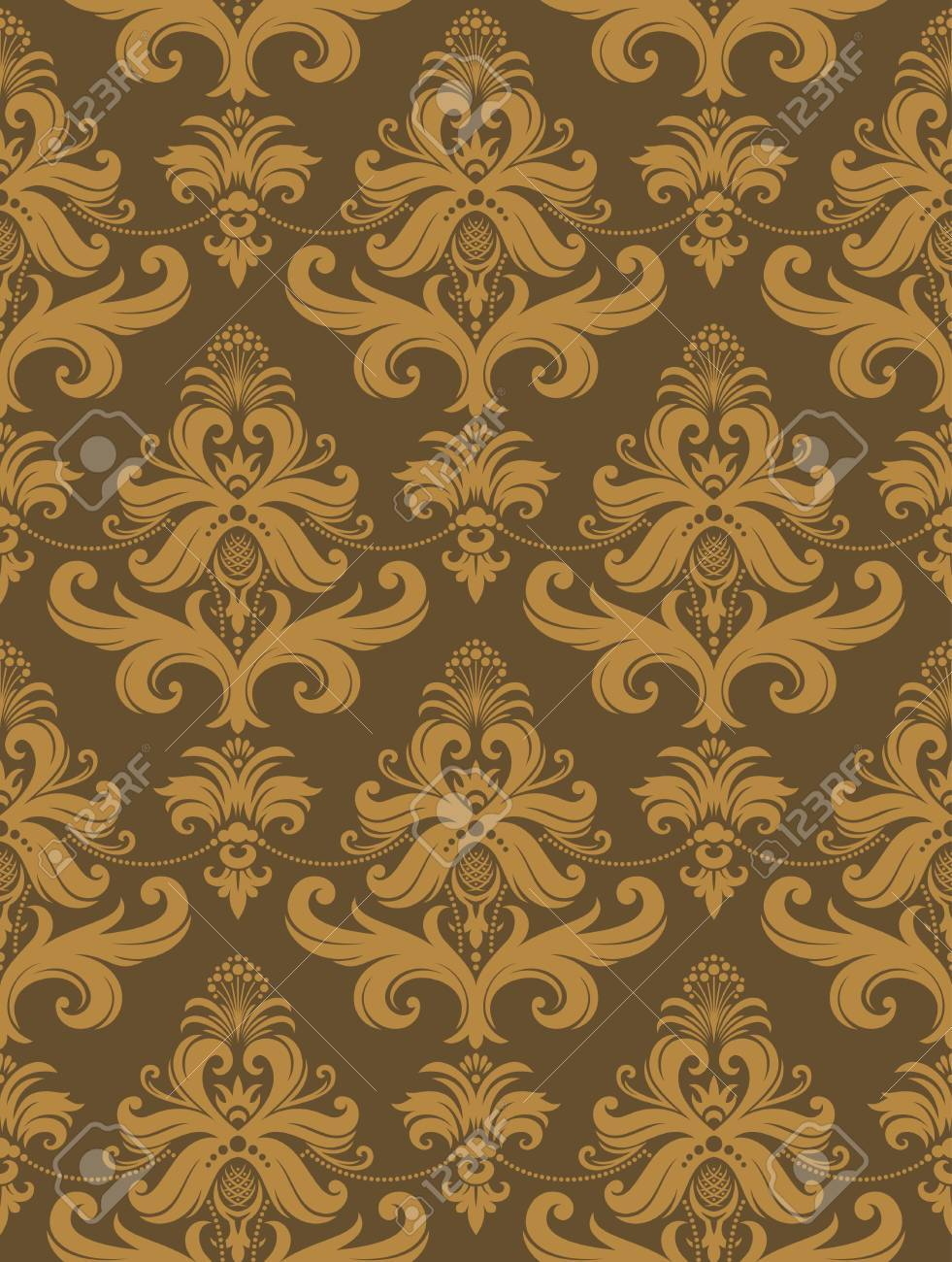 Seamless background from a floral ornament, Fashionable modern wallpaper or textile Stock Vector - 7085357