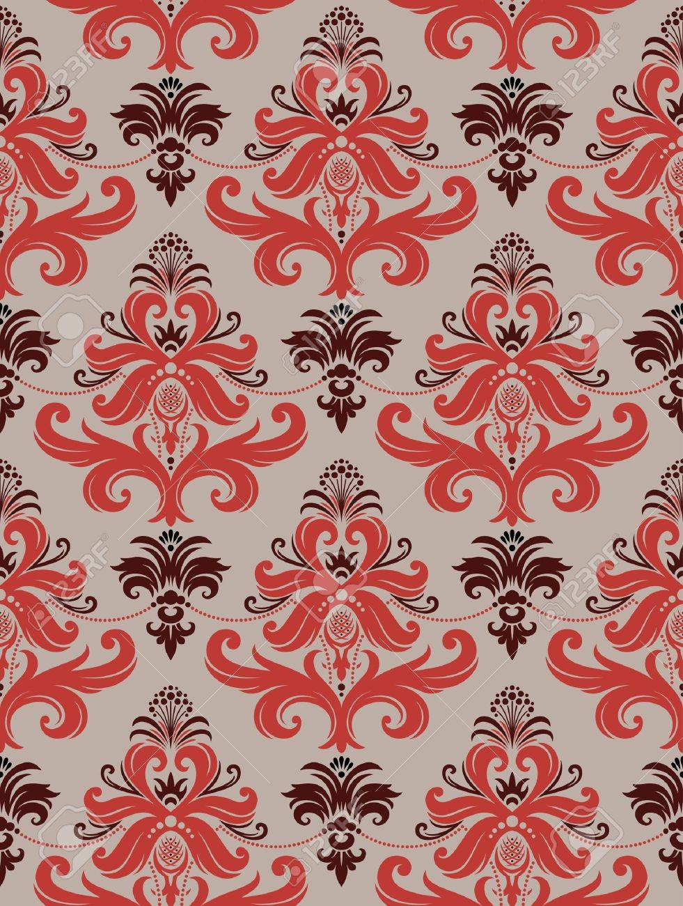 Seamless background from a floral ornament, Fashionable modern wallpaper or textile - 7087817