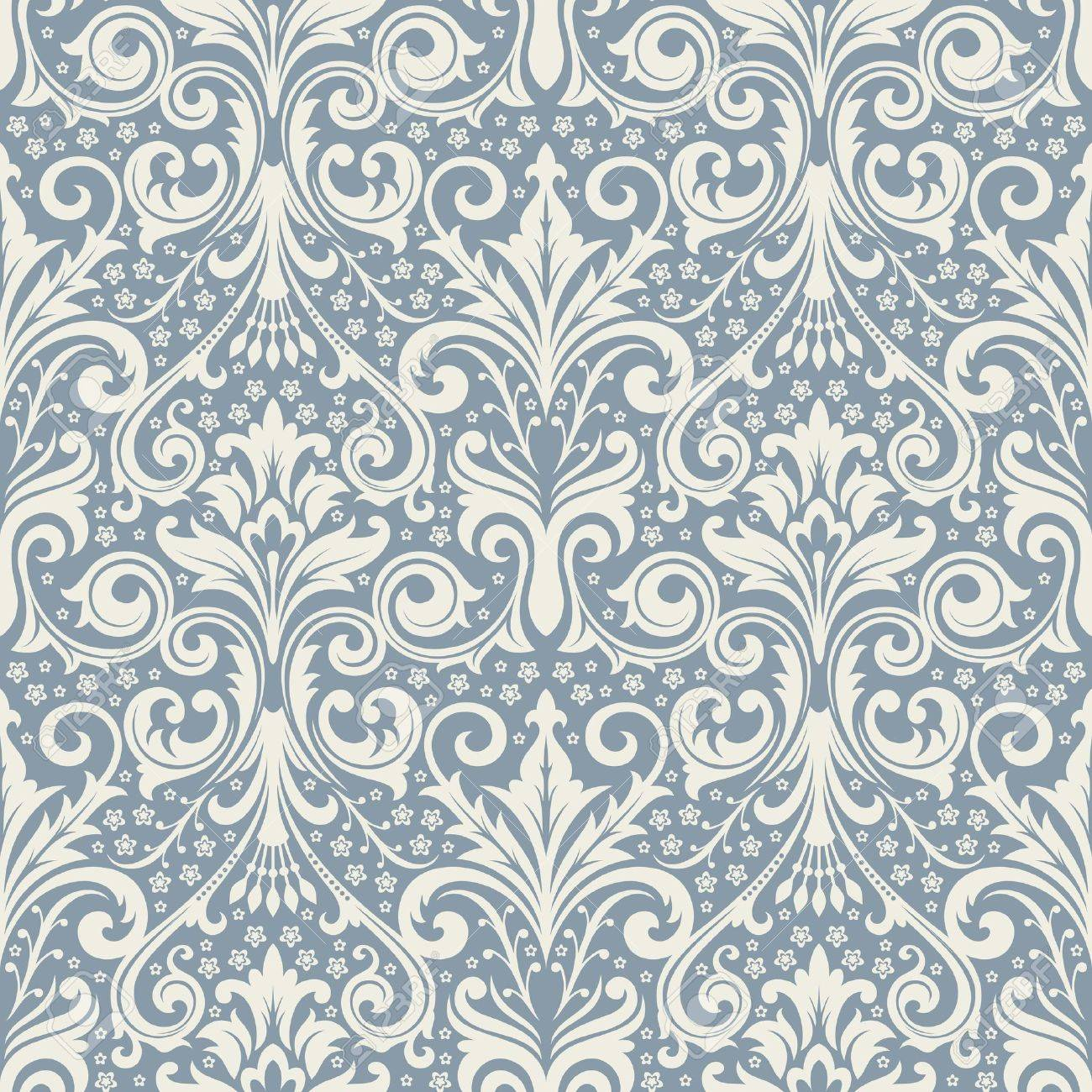 Seamless background from a floral ornament, Fashionable modern wallpaper or textile - 7087812