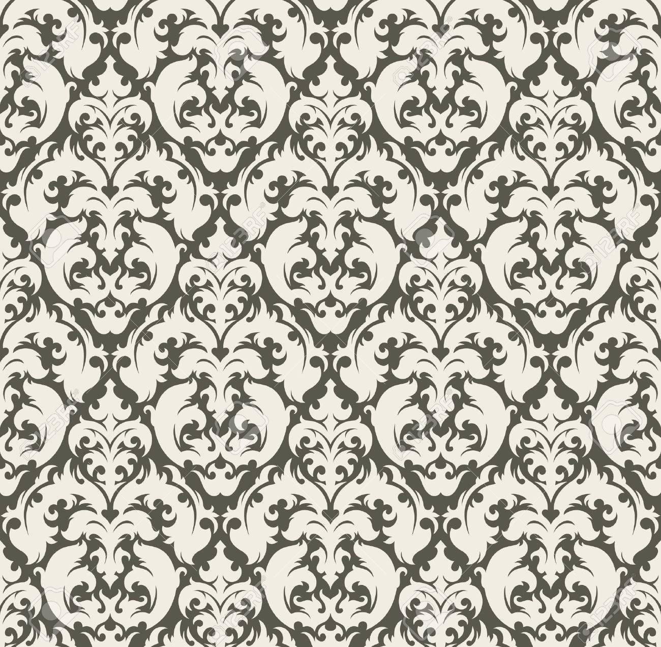 Seamless background from a floral ornament, Fashionable modern wallpaper or textile - 7087826