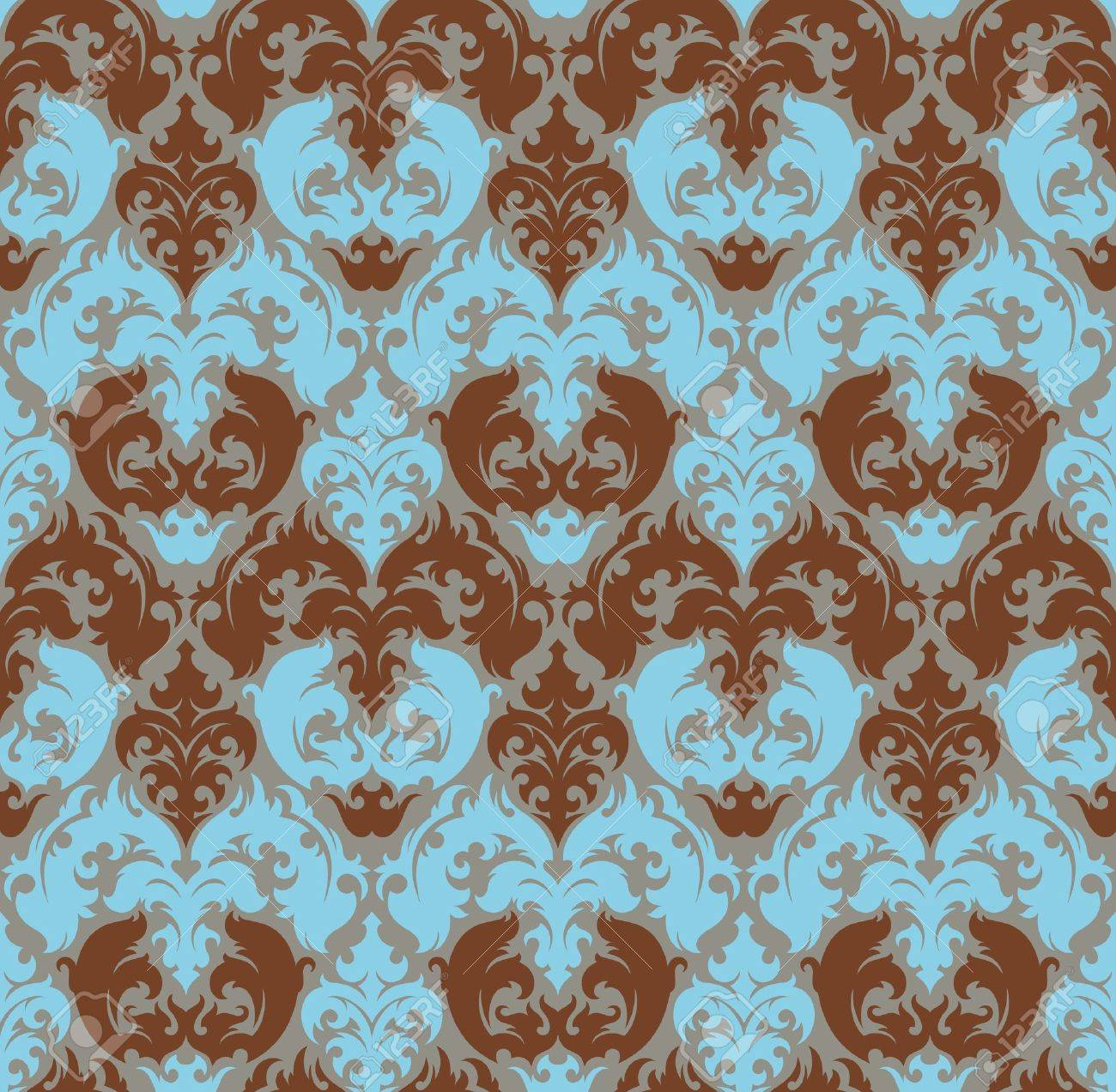 Seamless background from a floral ornament, Fashionable modern wallpaper or textile - 7087830