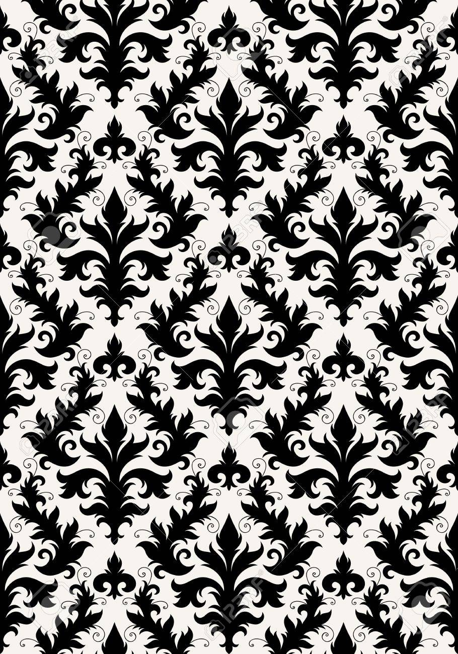 Seamless background from a floral ornament, Fashionable modern wallpaper or textile Stock Vector - 7087832