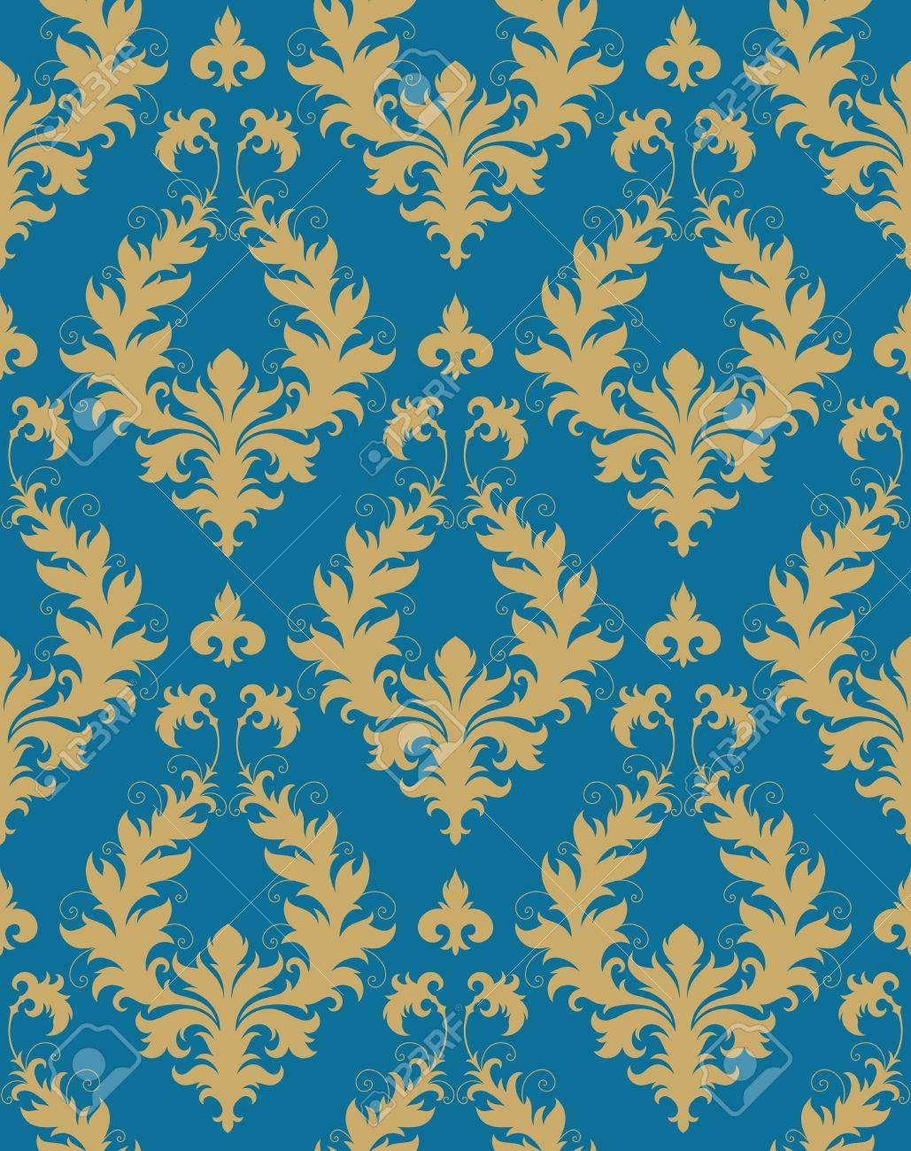 Seamless background from a floral ornament, Fashionable modern wallpaper or textile - 7087813
