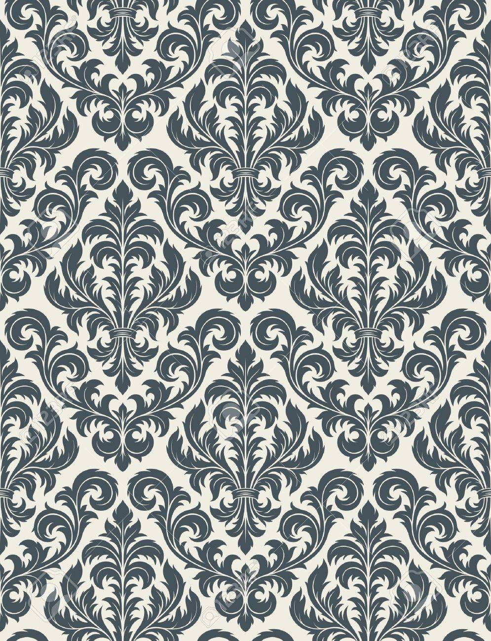 Seamless background from a floral ornament, Fashionable modern wallpaper or textile - 7103705