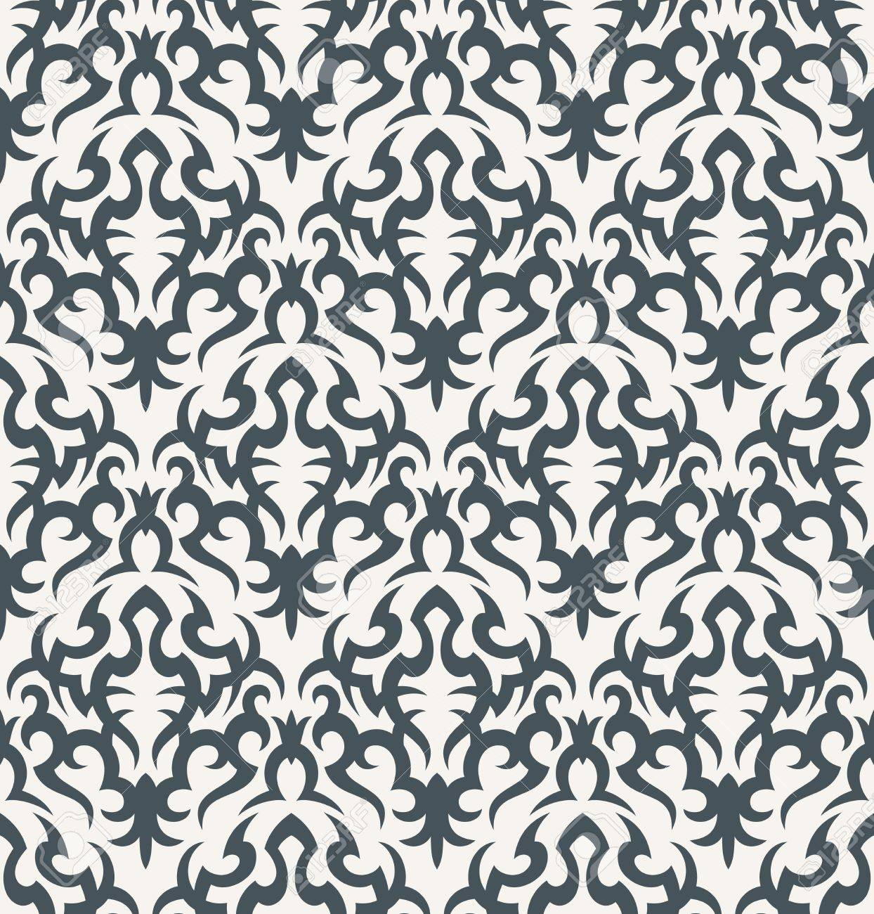 Seamless background from a floral ornament, Fashionable modern wallpaper or textile Stock Vector - 7230097