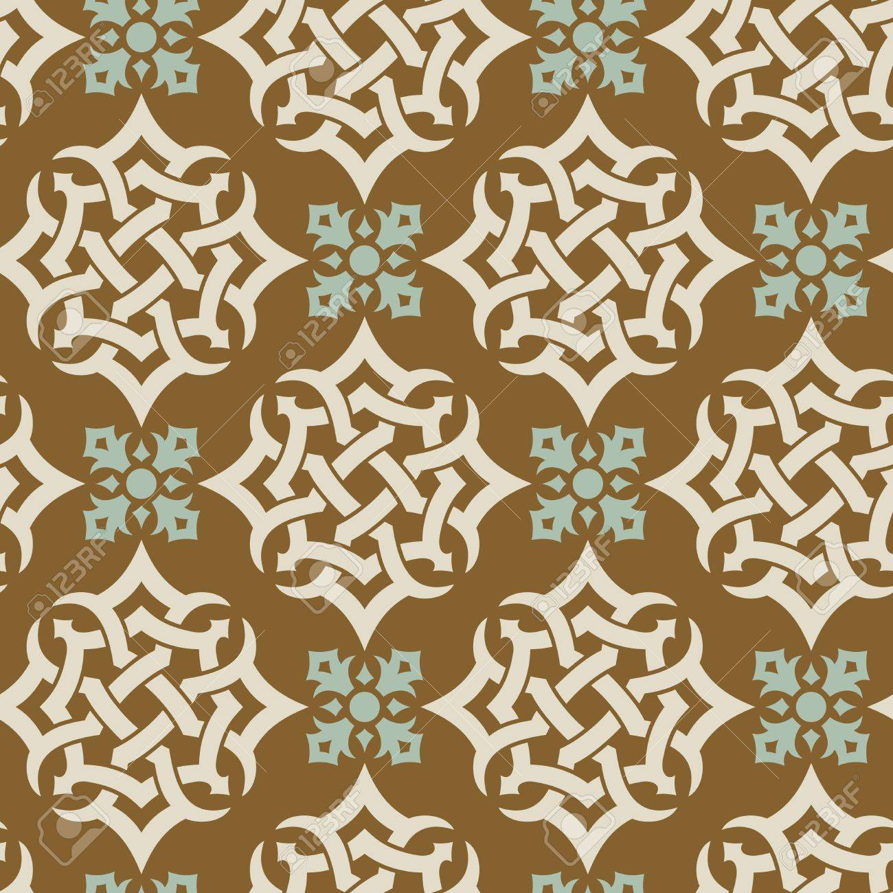 Seamless background from a floral ornament, Fashionable modern wallpaper or textile - 7230100