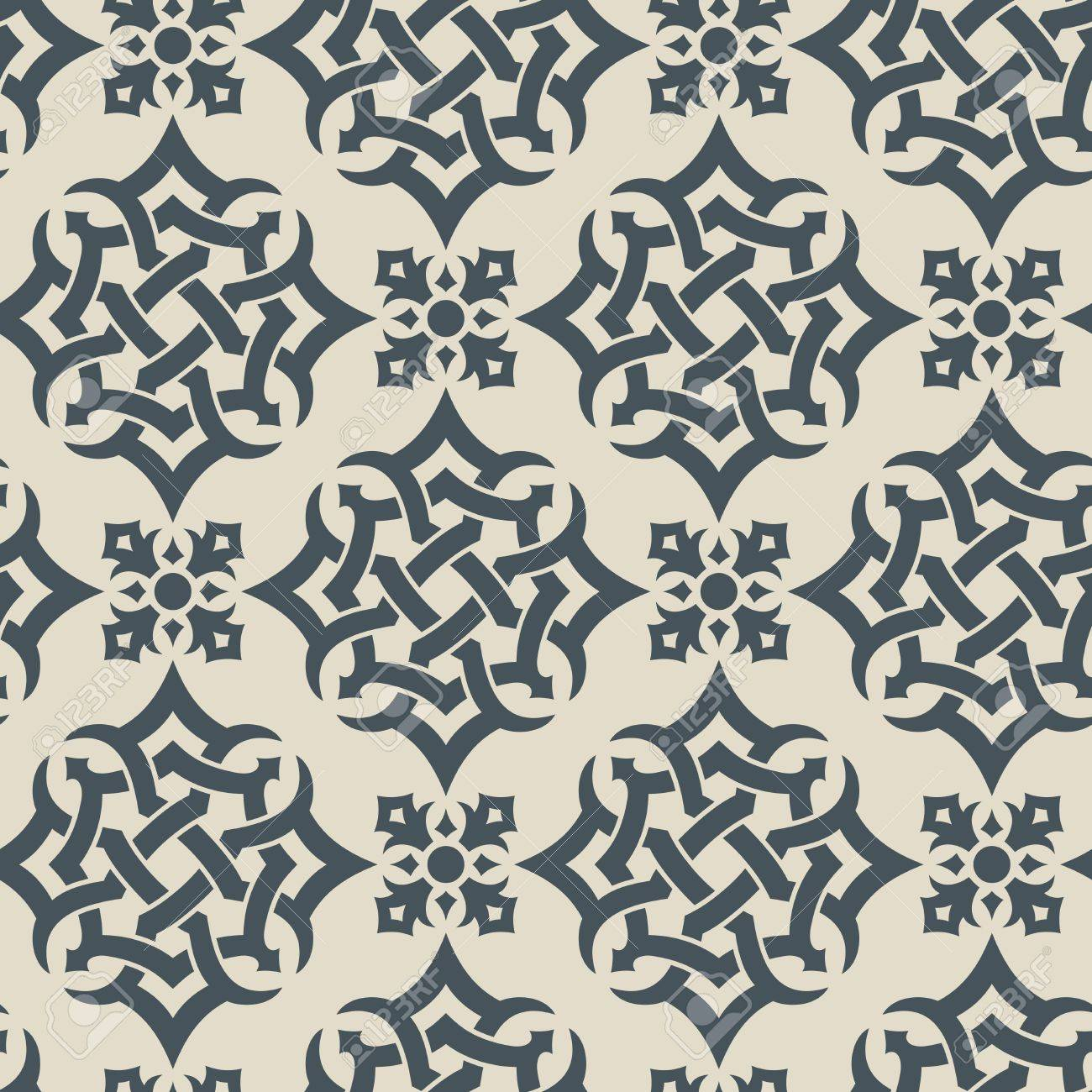 Seamless background from a floral ornament, Fashionable modern wallpaper or textile - 7256921