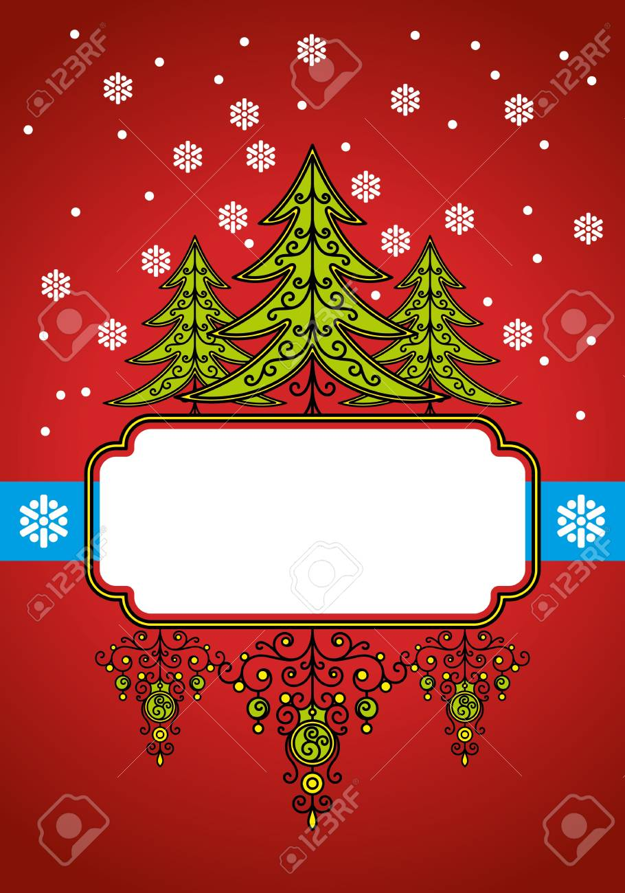 christmas background with decoration Stock Vector - 8625803